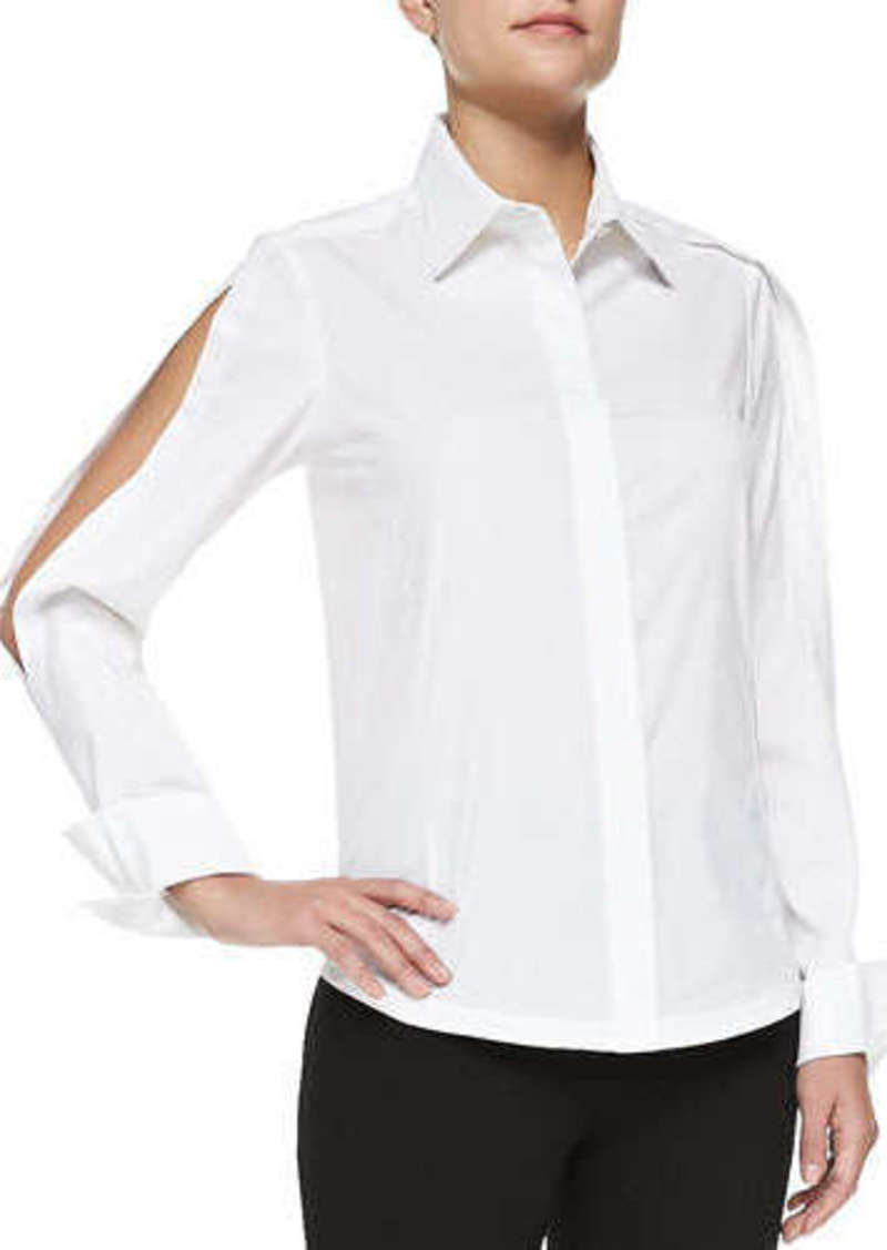White Blouse Open 94