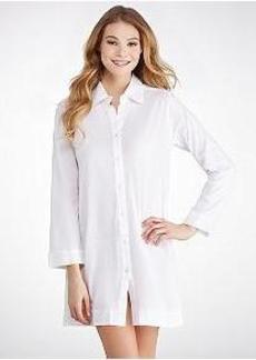 Donna Karan Pima Cotton Jersey Knit Sleep Shirt