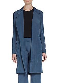 Donna Karan Relaxed Open-Front Long Jacket