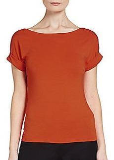 Donna Karan Roll-Sleeved Top