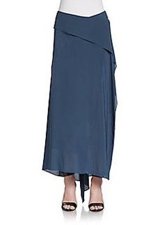 Donna Karan Scarf Wrap Maxi Skirt
