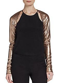 Donna Karan Sequin Shrug Top
