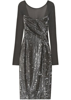 Donna Karan Sequined stretch-jersey dress