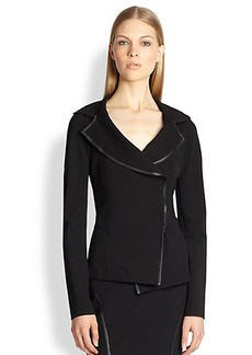 Donna Karan Shawl-Collar Blazer