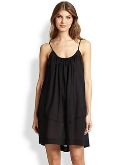 Donna Karan Short Cotton Gown