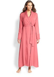 Donna Karan Silk Crepe Long Robe