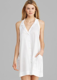 Donna Karan Sleepwear Cotton Sateen Sleeveless Sleepshirt