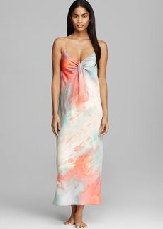 Donna Karan Sleepwear Tissue Crepe Long Gown