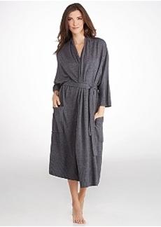 Donna Karan Sweater Knit Cashmere Robe