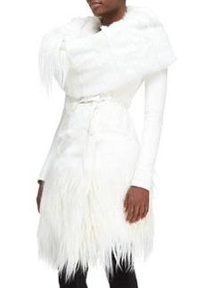 Down-Fill Goat Fur Collar   Down-Fill Goat Fur Collar