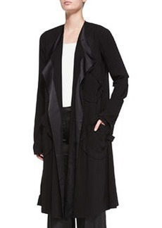 Fluid Drape Pocket Coat   Fluid Drape Pocket Coat