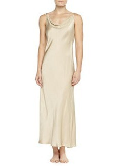 Glamour Washed Silk Long Gown, Champagne   Glamour Washed Silk Long Gown, Champagne