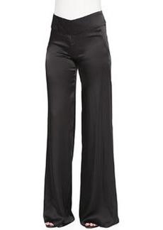 High-Waist Wide Fluid Pants   High-Waist Wide Fluid Pants