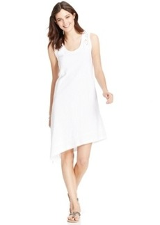 Dkny Jeans Embroidered Eyelet Dress