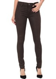 DKNY Jeans Ave B Ultra Skinny Coated in Dark Moss