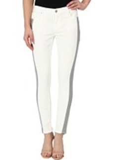 DKNY Jeans Ave B Ultra Skinny Crop in White with Grey Piece