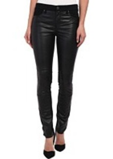 DKNY Jeans Ave B Ultra Skinny w/ Faux Leather Front in Noir