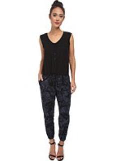 DKNY Jeans Camo Print Jumpsuit