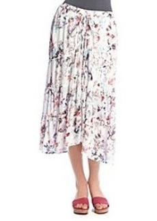 DKNY JEANS® Cloud Floral Print Skirt