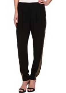 DKNY Jeans Crepe Track Pant w/ Metallic Racing Stripe