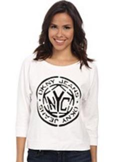 DKNY Jeans Cutout Token Sweatshirt