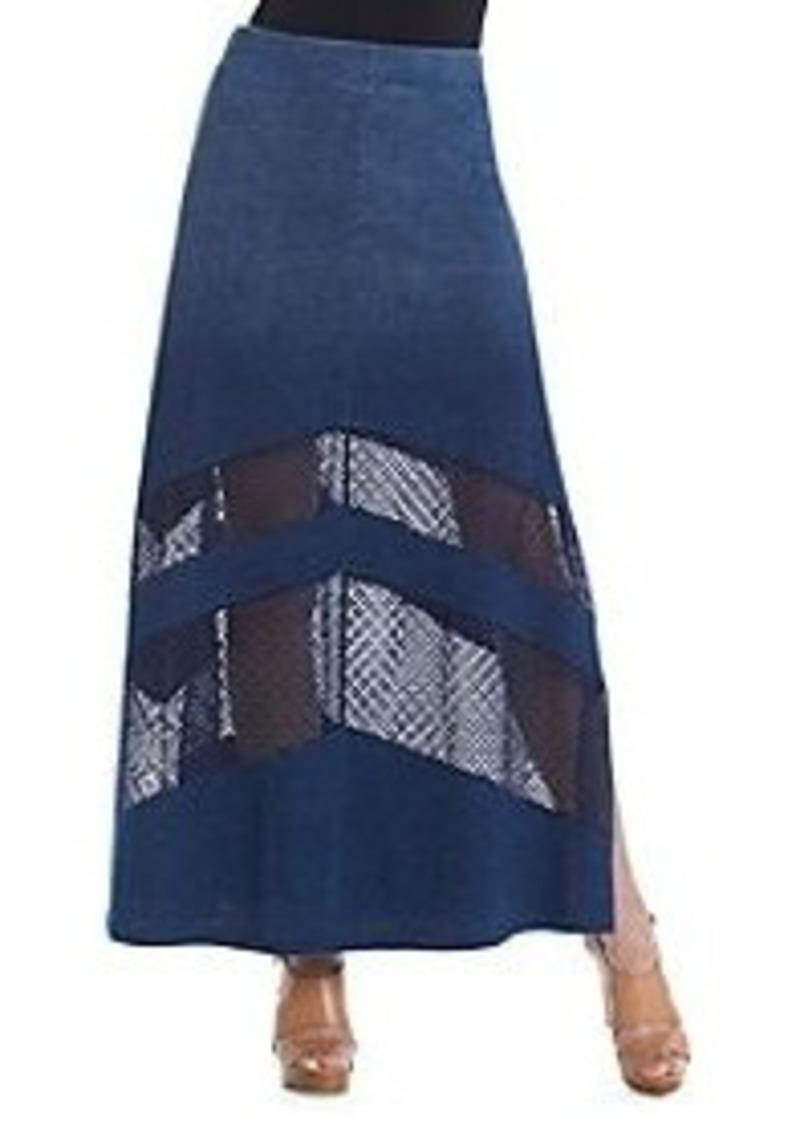 dkny dkny 174 denim maxi skirt skirts shop it
