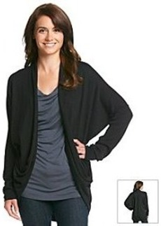 DKNY JEANS® Draped Front Two Pocket Cardigan