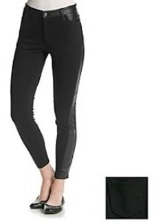 DKNY JEANS® Faux Leather And Ponte Leggings