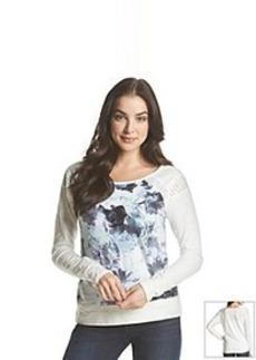 DKNY JEANS® Floral Print Sweatshirt