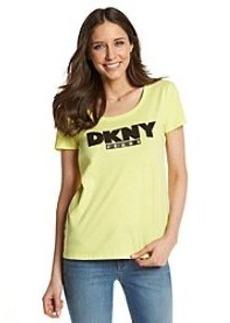 DKNY JEANS® Foil Outline Logo Tee