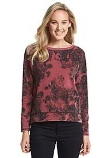 DKNY JEANS® Lace Print Stud Sweatshirt
