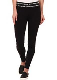 DKNY Jeans Logo Elastic Leggings in Noir