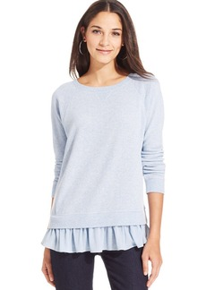 DKNY Jeans Long-Sleeve Layered-Look Top