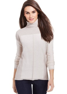 DKNY Jeans Long-Sleeve Metallic-Knit Turtleneck Sweater