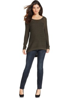 DKNY Jeans Long-Sleeve Sequin Tunic Sweater