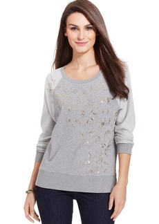 DKNY Jeans Long-Sleeve Sequined Sweatshirt