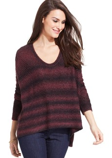 DKNY Jeans Long-Sleeve Striped Ombre Sweater