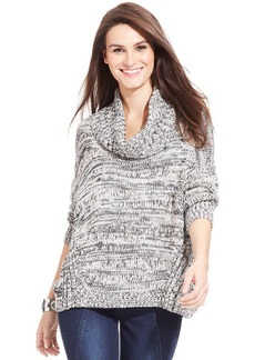 DKNY Jeans Marled-Knit Cowl-Neck Sweater
