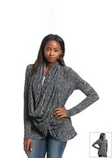 DKNY JEANS® Marled Snap Wrap Cozy Cardigan