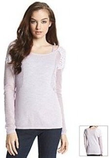 DKNY JEANS® Mesh And Lace Mix Sweater