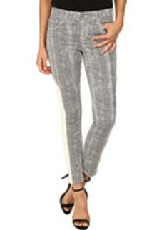 DKNY Jeans Mesh Print Ave B Ultra Skinny Crop in White