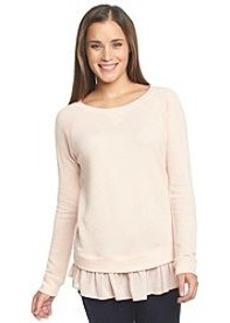 DKNY JEANS® Mixed Fabric Sweatshirt