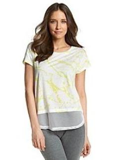 DKNY JEANS® Paint Drop Print Mesh Tee