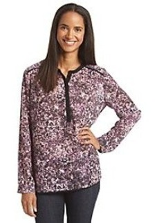 DKNY JEANS® Painted Floral Print Woven Top