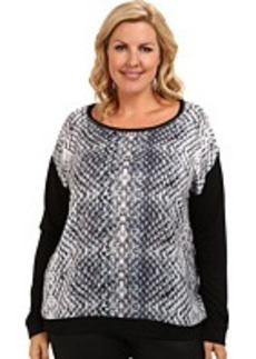 DKNY Jeans Plus Size Diamond Snake Sweatshirt