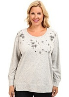 DKNY Jeans Plus Size Embellished Speckle Sweatshirt