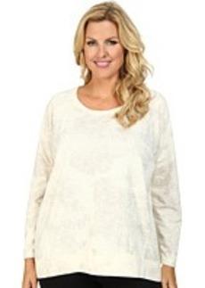 DKNY Jeans Plus Size Lace Print Rhinestud Sweatshirt