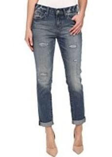 DKNY Jeans Rip and Repair Bleecker Boyfriend in Lake Wash