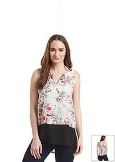 DKNY JEANS® Sketchy Floral Print Top