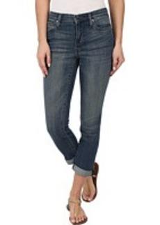 DKNY Jeans Soho Skinny Rolled Crop in Lucid Sky Wash
